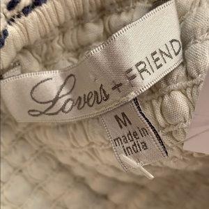 Lovers + Friends Tops - Lovers + Friends Blue Tweed Bustier Crop Top